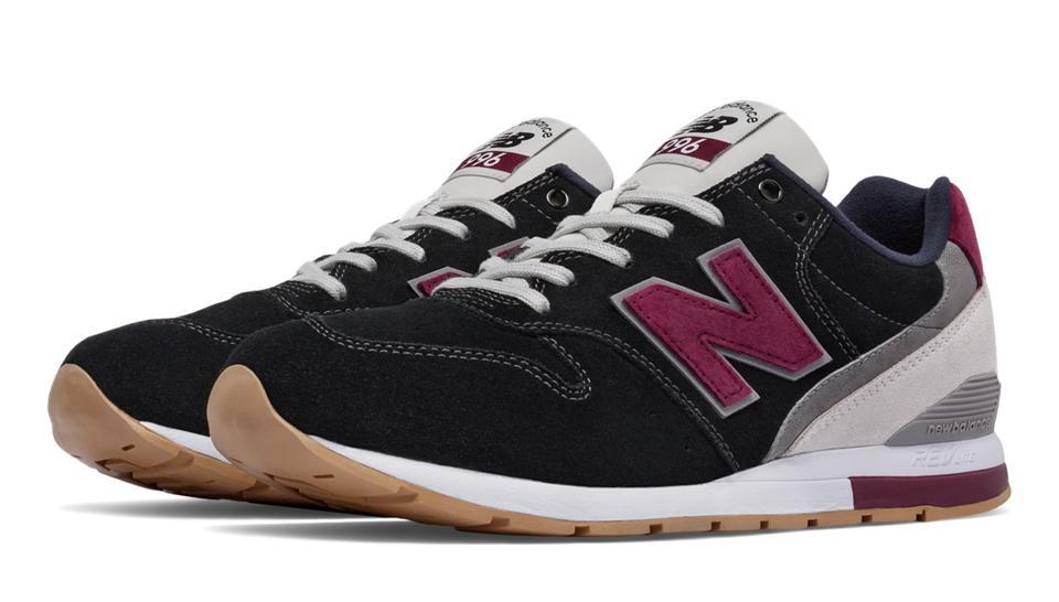New Balance 996 Suede para hombre Negero/Rojo_023