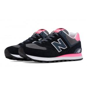 New Balance 574 Core Plus para mujer negro Guava/gris_001