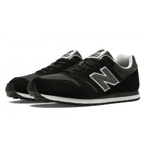 New Balance 373 Suede para hombre Negro/Gris_039