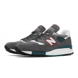 New Balance 998 New Balance para hombre gris/rojo_070