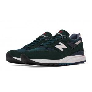 New Balance 998 Age of Exploration para hombre Dark verde/Navy_011