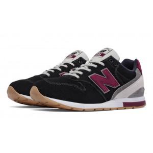 New Balance 996 Suede para hombre negro/rojo_099