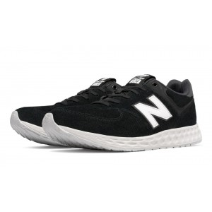 New Balance 574 Fresh Foam Suede para hombre negro/blanco_010
